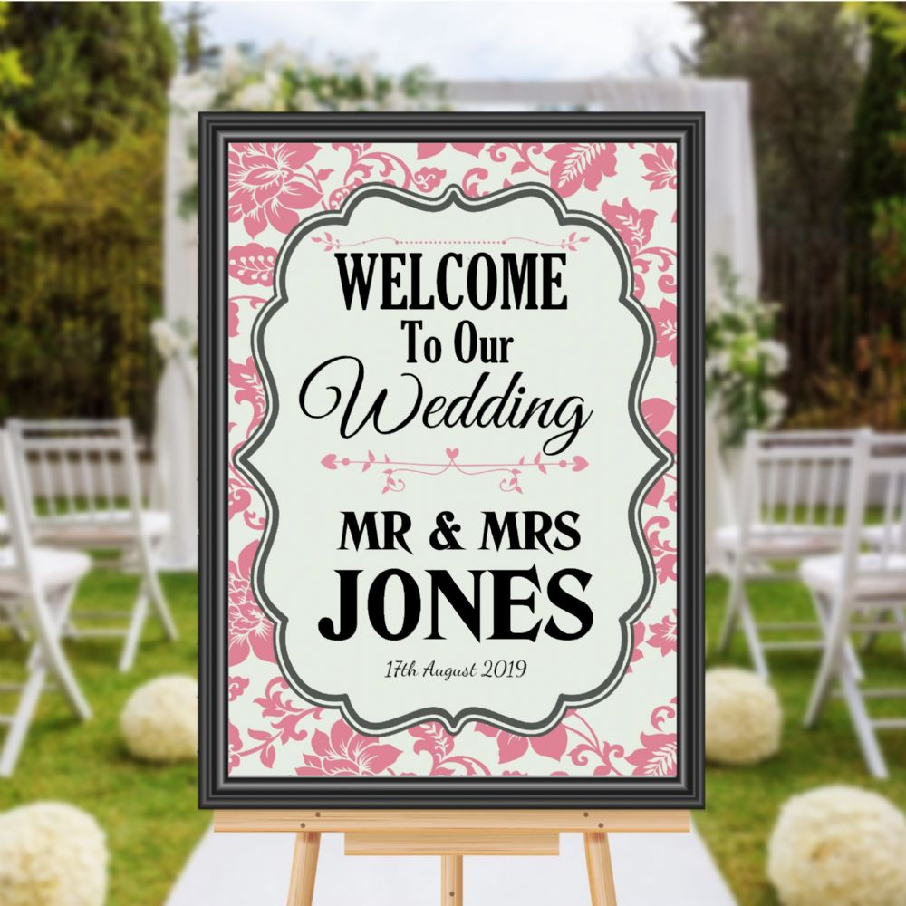 personalised welcome to our wedding sign poster banner